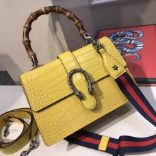 Gucci  Dionysus leather top handle bag 448075 Yellow  (SuperM-71907)