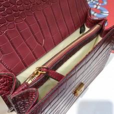 Gucci  Dionysus leather top handle bag 448075  Burgundy (SuperM-71909)