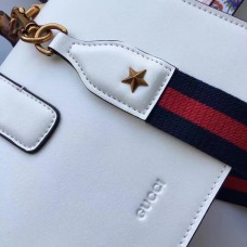 Gucci  Dionysus smooth leather top handle bag 448075  White/Navy/Red (SuperM-71922)