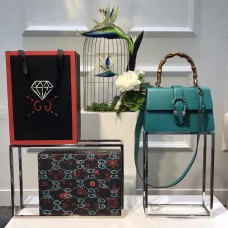 Gucci  Dionysus grained leather top handle bag 448075 Green (SuperM-71923)