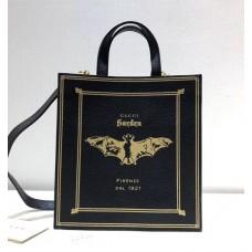 Gucci Bat Garden Tote Bag 513909 Black 2018