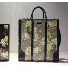 Gucci 406387 GG Green Blooms Tote 2015