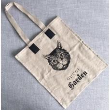 Gucci Cat Print Garden Tote Bag 2018
