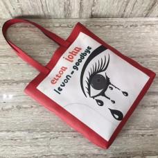Gucci Caflskin Eye With Tears Levon Goodbye Tote Bag White/Red 2018