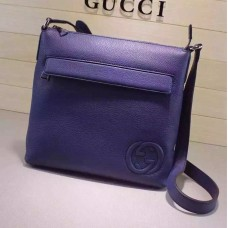 Gucci Blue Leather messenger 322059