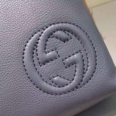 Gucci Gray Leather messenger 322059