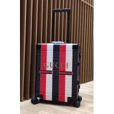 Gucci Sylvie Striped Trim Logo Luggage Black 2018