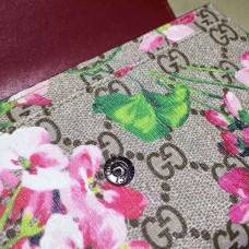 GUCCI GG BLOOMS CONTINENTAL WALLET MARROON 404070