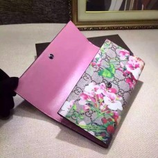 GUCCI GG BLOOMS CONTINENTAL WALLET PINK 404070
