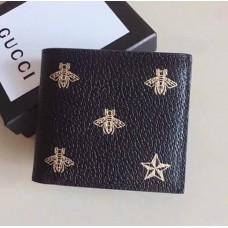 Gucci Bee Star Leather Bi-fold Wallet 495055 2017