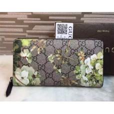 Gucci GG Blooms Zip Around Wallet 408665