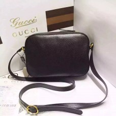 Gucci  BLACK Animalier Grained-Leather Cross-Body Bag
