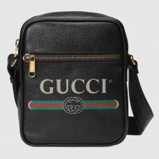 Gucci Black Print Messenger Bag