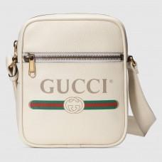 Gucci White Print Messenger Bag
