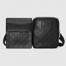 Gucci Black Signature Leather Belt Bag
