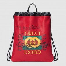 Gucci Red Coco Capitan Logo Backpack