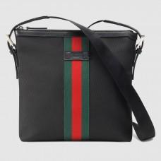 Gucci Black Web Canvas Messenger Bag