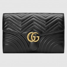 Gucci Black GG Marmont Clutch Bag