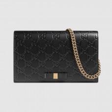Gucci Black Signature Leather Mini Bag