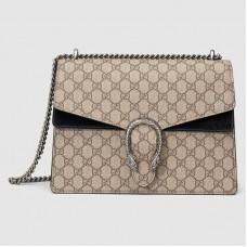 Gucci Black Dionysus Medium GG Supreme Shoulder Bag