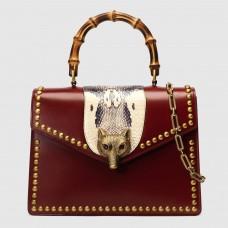 Gucci Broche Fox Studs Medium Top Handle Bag