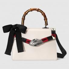Gucci White Lilith Small Top Handle Bag