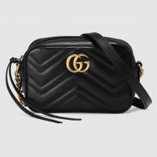 Gucci Black GG Marmont Matelasse Mini Bag