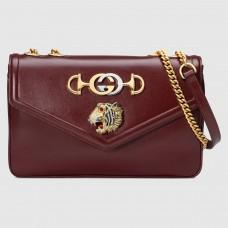 Gucci Bordeaux Rajah Medium Shoulder Bag