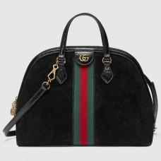 Gucci Black Ophidia Medium Top Handle Bag
