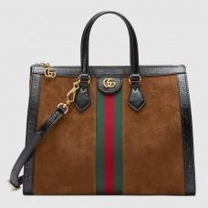 Gucci Brown Ophidia Medium Top Handle Bag