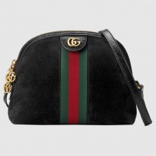Gucci Black Ophidia Suede Small Shoulder Bag