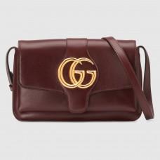 Gucci Burgundy Small Arli Leather Shoulder Bag