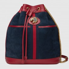 Gucci Blue Medium Rajah Bucket Bag