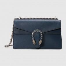 Gucci Blue Dionysus Small Leather Shoulder Bag