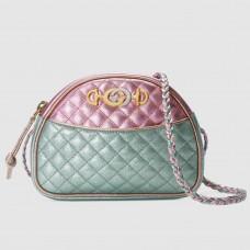 Gucci Pink/Blue Laminated Leather Mini Bag