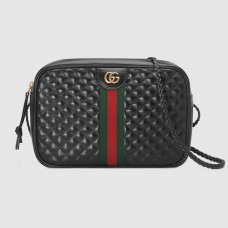 Gucci Black Quilted Leather Small Shoulder Bag
