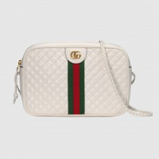 Gucci White Quilted Leather Small Shoulder Bag