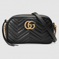 Gucci Black GG Marmont Small Camera Shoulder Bag
