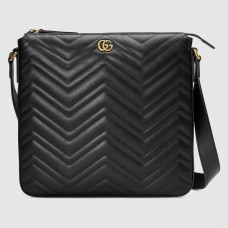 Gucci Black GG Marmont Messenger Bag