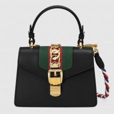 Gucci Black Leather Sylvie Mini Bag