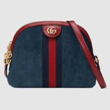 Gucci Blue Ophidia Suede Small Shoulder Bag