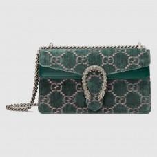 Gucci Green Dionysus GG Velvet Small Bag