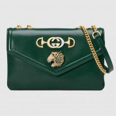 Gucci Green Rajah Medium Shoulder Bag
