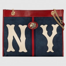 Gucci Rajah Large Tote With NY Yankees™ Patch