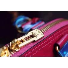 Louis Vuitton Alma BB Bag Rose Red 2015