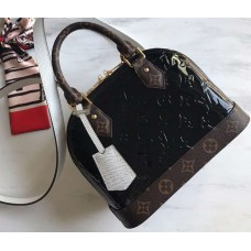 Louis Vuitton Monogram Vernis Alma BB Bag M44389 Black 2019