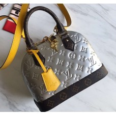Louis Vuitton Monogram Vernis Alma BB Bag M44389 Silver 2019
