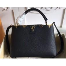 Louis Vuitton Capucines BB Bag Blooms Crown M54665 Black