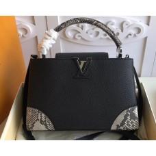 Louis Vuitton Capucines BB Bag Four Corners Python Black N94410
