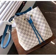 Louis Vuitton Damier Azur Canvas NeoNoe Bucket Bag N40153 Bleuet